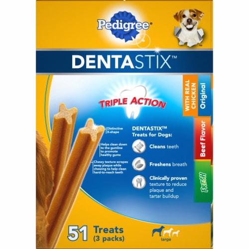 Pedigree Dentastix Large Dog Dental Treat Variety Pack Perspective: right