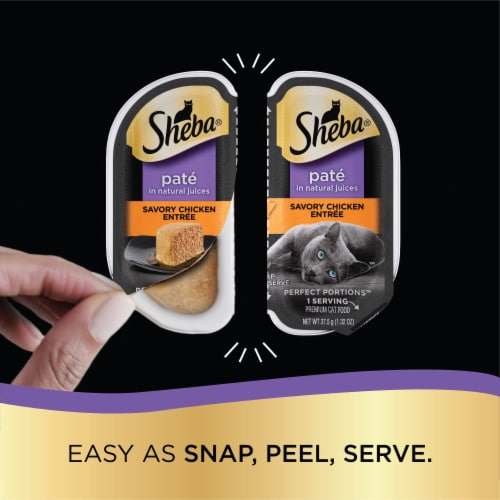 Sheba Perfect Portions Savory Chicken & Roasted Turkey Entree Variety Pack Perspective: right