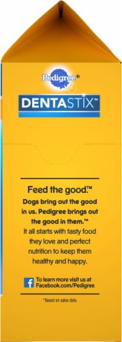 Pedigree Dentastix Triple Action Original Toy/Small Dog Treats 108 Count Perspective: right