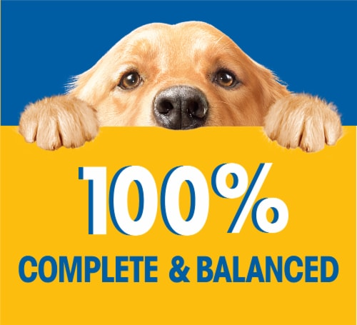 Pedigree Chopped Meaty Ground Dinner with Hearty Chicken Wet Dog Food Pouch Perspective: right