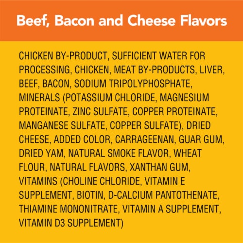 Pedigree Chopped Ground Dinner with Beef Bacon & Cheese Flavors Wet Dog Food Perspective: right