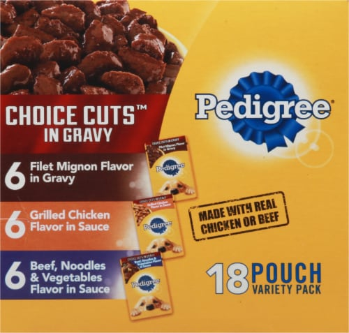 Pedigree Choice Cuts in Gravy Wet Dog Food Variety Pack 18 Count Perspective: right
