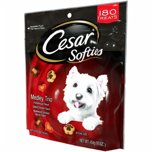 Cesar Softies Medley Trio Bite-Sized Dog Treats Perspective: right