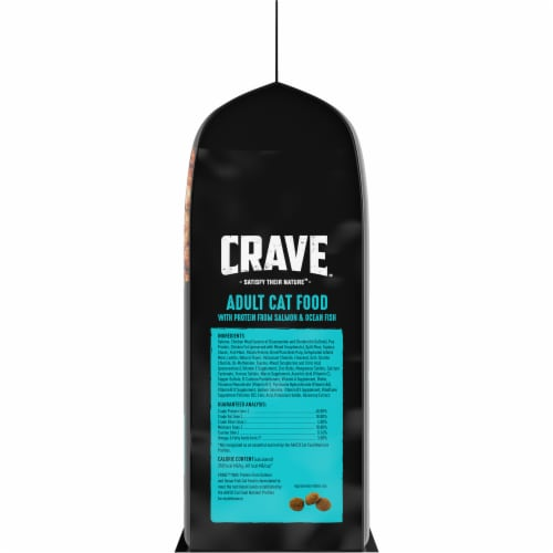 Crave Salmon & Ocean Fish Protein Adult Cat Food Perspective: right