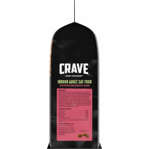 Crave Grain Free with Protein From Chicken & Salmon Indoor Adult Dry Cat Food Perspective: right