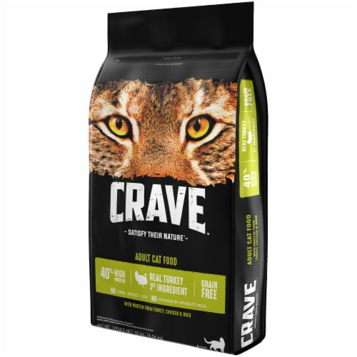Crave Turkey Chicken & Duck Dry Adult Cat Food Perspective: right