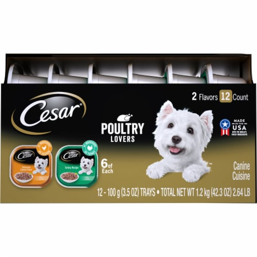 Cesar Poultry Lovers Wet Dog Food Variety Pack Perspective: right