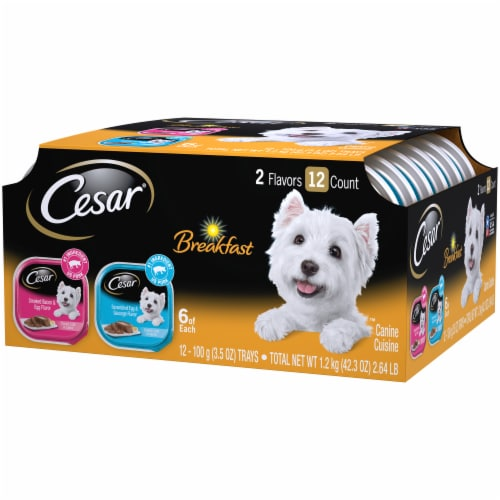 Cesar Canine Cuisine Breakfast Wet Dog Food Variety Pack Perspective: right