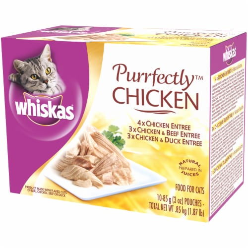 Whiskas Purrfectly Chicken Wet Cat Food Variety Pack Perspective: right