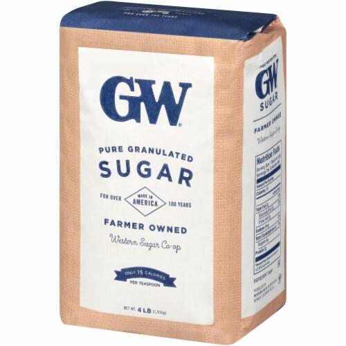 GW Pure & Natural Fine Granulated Sugar Perspective: right