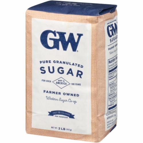 GW Extra Fine Granulated Pure Sugar Perspective: right
