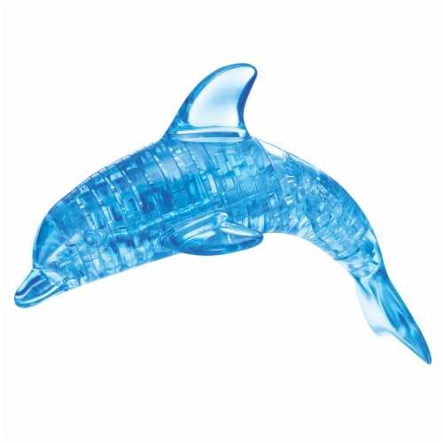 BePuzzled 3D Dolphin Crystal Puzzle - Blue Perspective: right