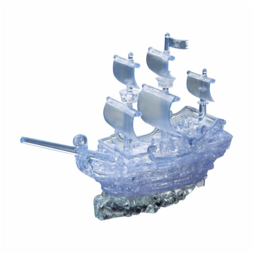 BePuzzled 3D Pirate Ship Crystal Puzzle Perspective: right