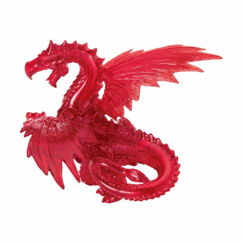 BePuzzled 3D Dragon Crystal Puzzle - Red Perspective: right