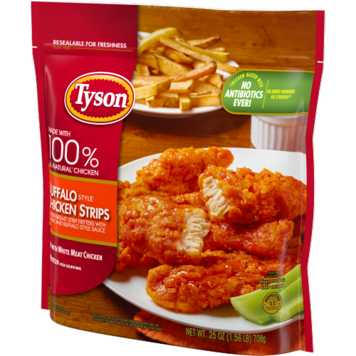 Tyson Fully Cooked Buffalo Style Chicken Strips Perspective: right