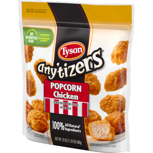 Tyson Any'tizers Popcorn Frozen Chicken Perspective: right