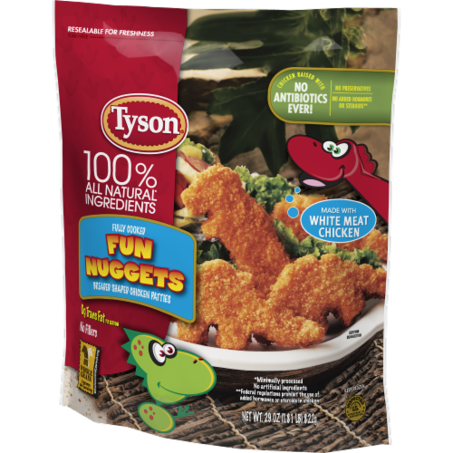 Tyson Fully Cooked Fun Nuggets with Whole Grain Breading Perspective: right