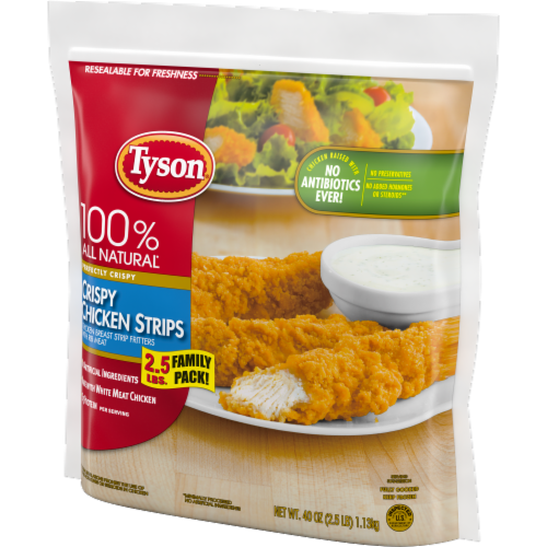 Tyson Fully Cooked Crispy Chicken Strips Perspective: right
