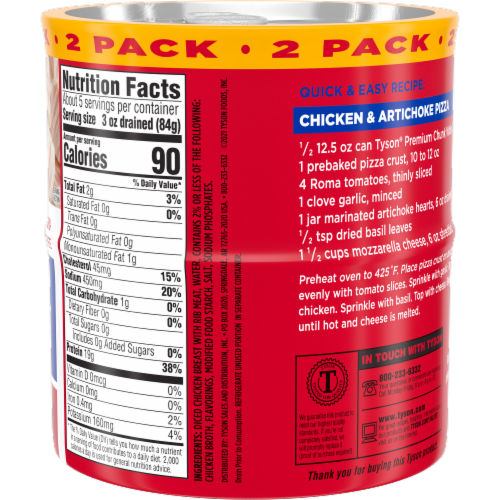 Tyson Premium Chunk White Chicken Twin Pack Perspective: right