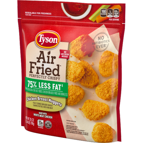 Tyson Air Fried Perfectly Crispy Chicken Nuggets Perspective: right