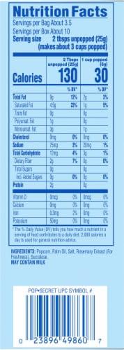 Pop Secret Kettle Corn Popcorn Bags Perspective: right