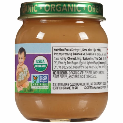 Earth's Best Organic Apples & Plums Stage 2 Baby Food Perspective: right