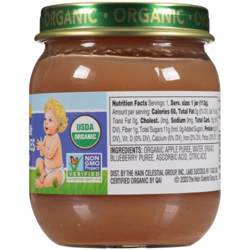 Earth's Best Organic Apples & Blueberries Stage 2 Baby Food Perspective: right