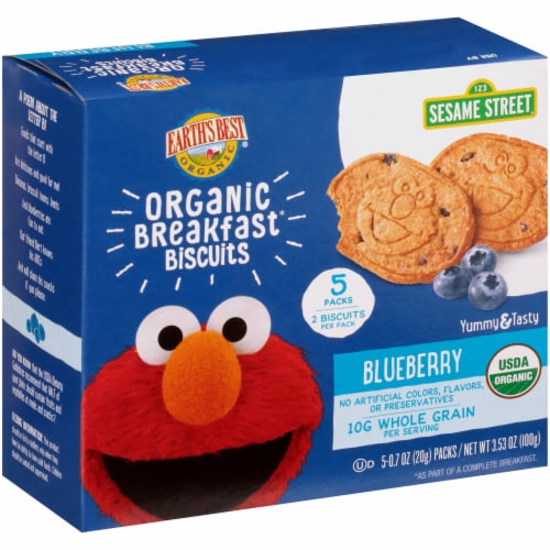 Earth's Best Sesame Street Blueberry Oat Organic Breakfast Biscuits Perspective: right