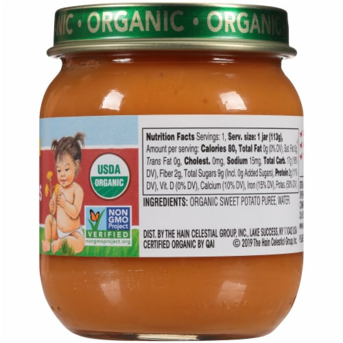 Earth's Best Organic Sweet Potatoes Stage 2 Baby Food Perspective: right