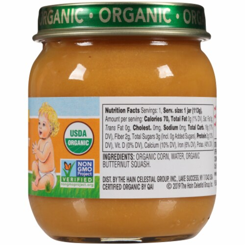 Earth's Best Organic Corn & Butternut Squash Stage 2 Baby Food Perspective: right