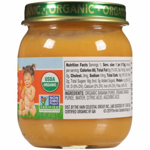 Earth's Best Organic Banana Mango Stage 2 Baby Food Perspective: right