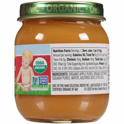 Earth's Best Organic Apple Butternut Squash Stage 2 Baby Food Perspective: right