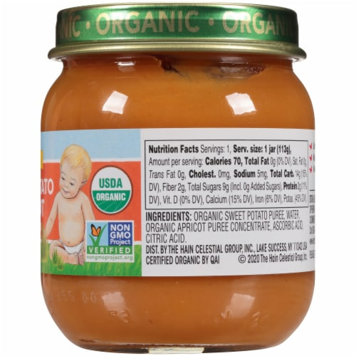 Earth's Best Organic Sweet Potato Apricot Stage 2 Baby Food Perspective: right