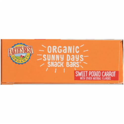Earth's Best Sesame Street Sunny Days Sweet Potato & Carrot Snack Bars 8 Count Perspective: right