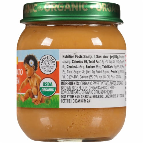 Earth's Best Organic Sweet Potato & Chicken Stage 2 Baby Food Perspective: right