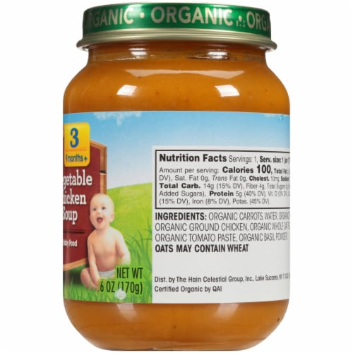 Earth's Best Organic Vegetable Chicken Soup Stage 3 Baby Food Perspective: right