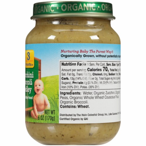 Earth's Best Organic Zucchini Broccoli Medley Stage 3 Baby Food Perspective: right