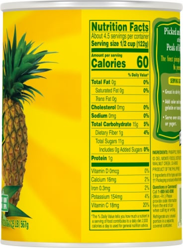Del Monte Pineapple Chunks Perspective: right
