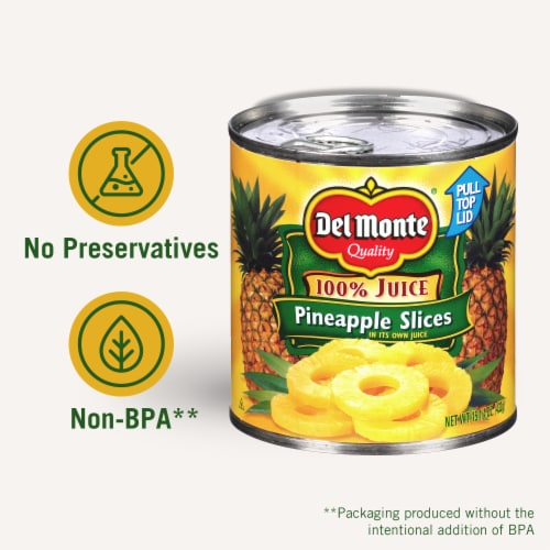Del Monte® Pineapple Slices in 100% Juice Perspective: right