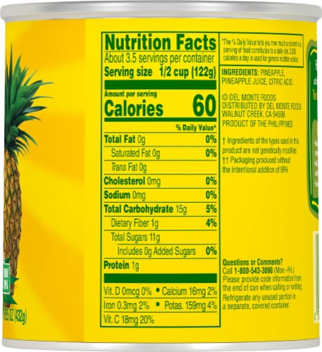 Del Monte® Crushed Pineapple Perspective: right