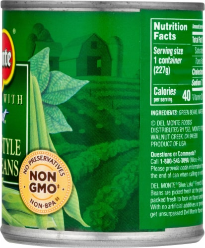 Del Monte Fresh Cut French Style Green Beans Perspective: right