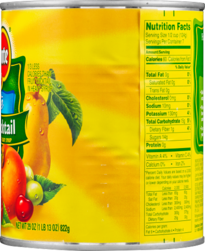 Del Monte Lite Fruit Cocktail Perspective: right