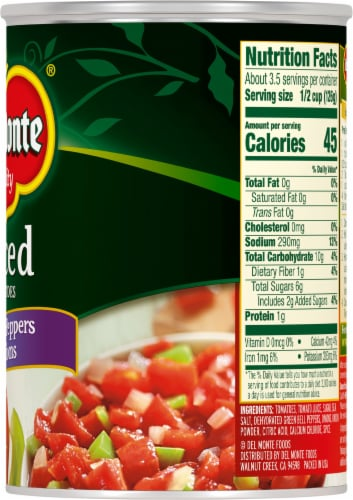 Del Monte® Diced Tomatoes with Green Pepper & Onions Perspective: right