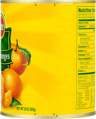 Del Monte Mandarin Oranges in Light Syrup Perspective: right