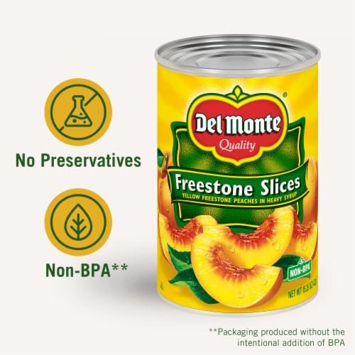 Del Monte® Yellow Freestone Slices Yellow Freestone Peaches in Heavy Syrup Perspective: right
