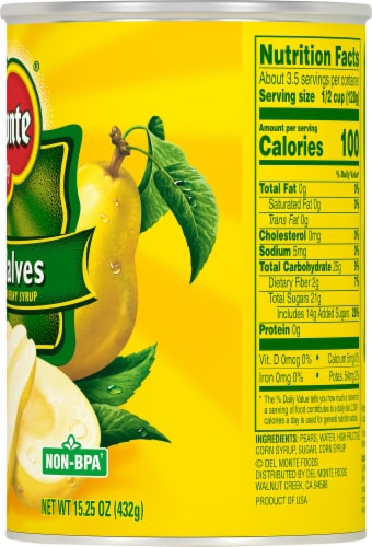 Del Monte® Pear Halves in Heavy Syrup Perspective: right