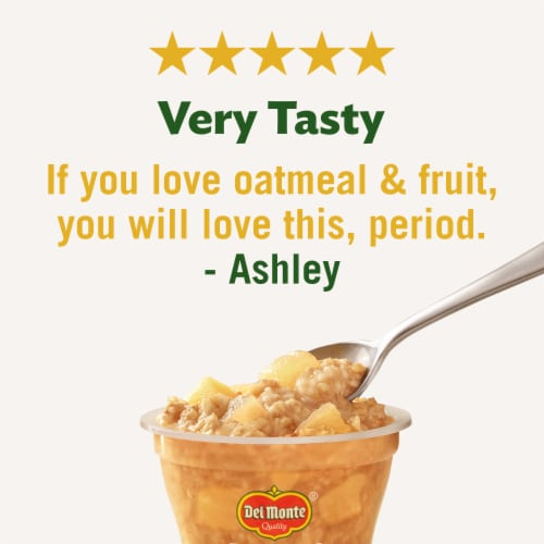 Del Monte Fruit & Oats Apple Cinnamon Cups 2 Count Perspective: right