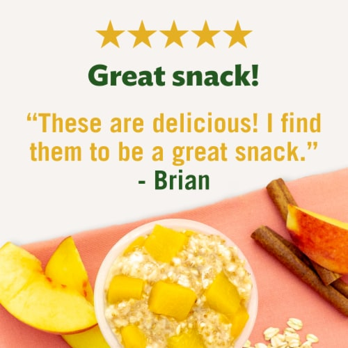 Del Monte Fruit & Oats Peach Cinnamon Spice Cups 2 Count Perspective: right