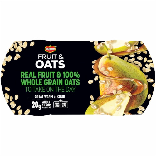 Del Monte Fruit & Oats Pear Maple Cups 2 Count Perspective: right