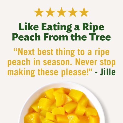 Del Monte No Sugar Added Diced Peaches Fruit Cup Snacks Family Pack Perspective: right